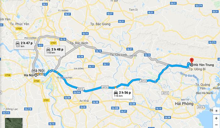 Cung đường Hà Nội - hồ Yên Trung