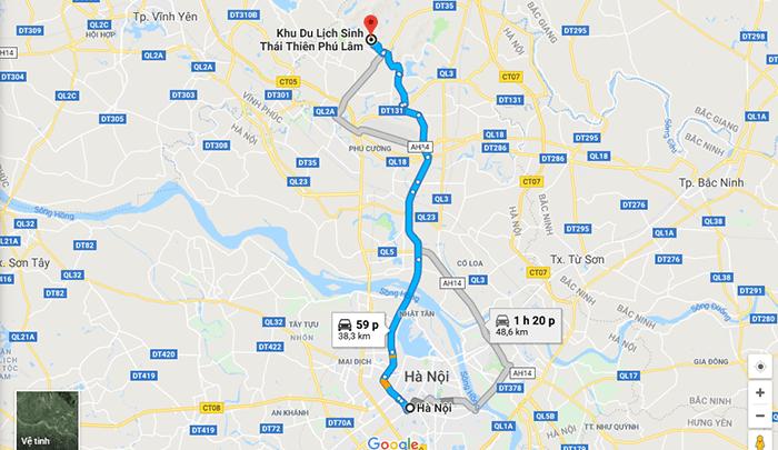 Cung đường Hà Nội - khu du lịch Thiên Phú Lâm
