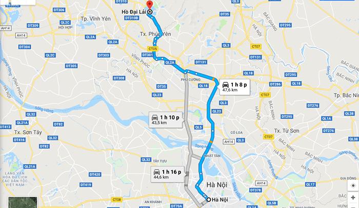 Cung đường Hà Nội - Hồ Đại Lải