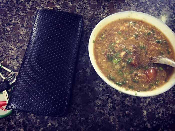 Cháo ấu tẩu là món ăn đặc sản chỉ ăn vào buổi tối ở Hà Giang
