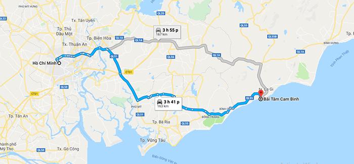 Cung đường từ Tp Hồ Chí MInh đi biển Cam Bình