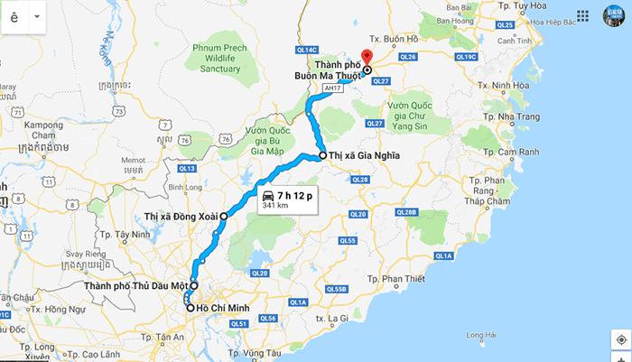 Cung đường Sài Gòn - Buôn Mê Thuột