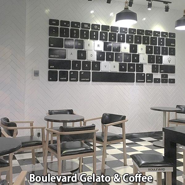 Không gian quán decor cực ấn tượng tạiBoulevard Gelato & Coffee