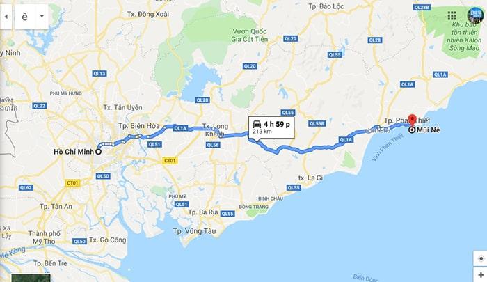 Cung đường Sài Gòn - Mũi Né qua quốc lộ 1A