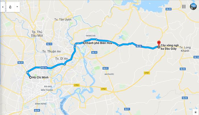 Cung đường Sài Gòn - Ngã 3 Dầu Giây