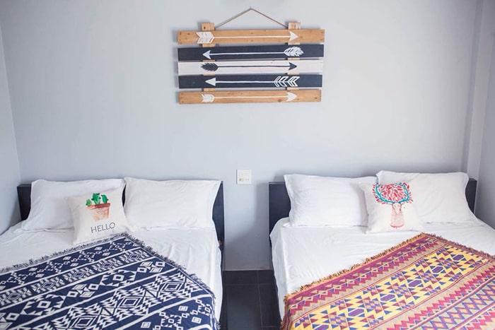 Không gian phòng ngủ ở Happy Ride homestay