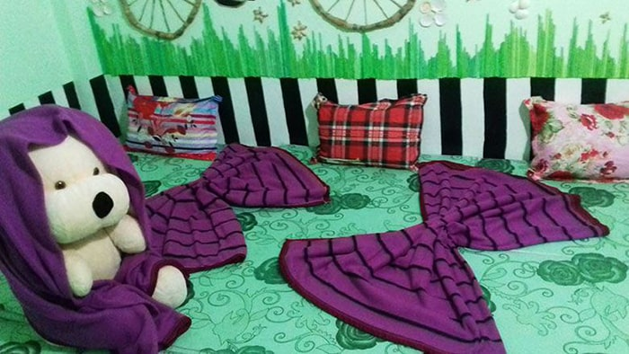 Không gian phòng ngủ ở Nắng Homestay