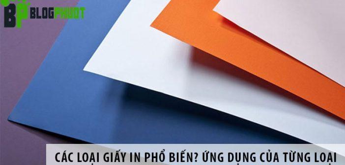 Các loại giấy in phổ biến? Ứng dụng của từng loại