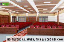 Hội trường xã, huyện, tỉnh 250 chỗ ngồi nên chọn ghế gì?