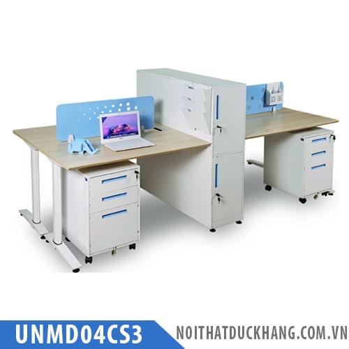 Cụm bàn làm việc 4 chỗ UNMD04CS3